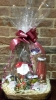 Christmas git basket with panettone