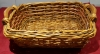 Medium size basket with wooden handles